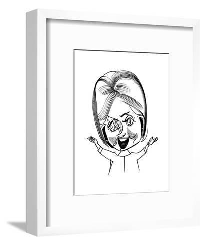 Hillary Clinton - Cartoon-Tom Bachtell-Framed Art Print