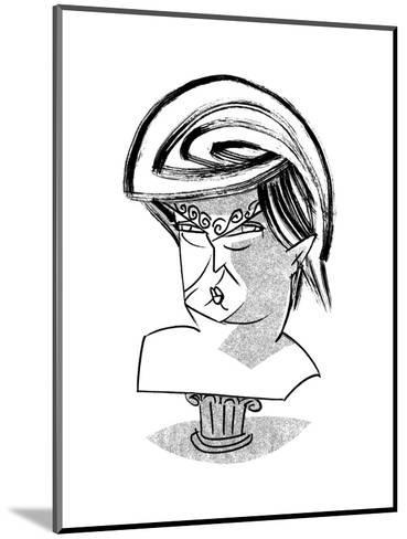 Donald Trump Bust - Cartoon-Tom Bachtell-Mounted Premium Giclee Print