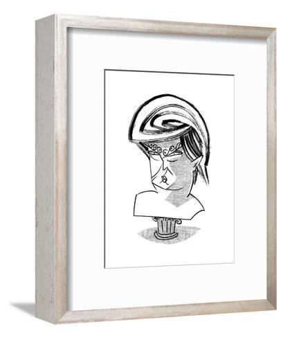 Donald Trump Bust - Cartoon-Tom Bachtell-Framed Art Print