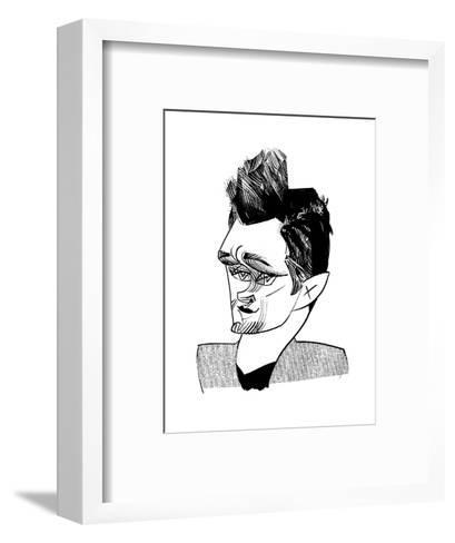 Hugh Dancy - Cartoon-Tom Bachtell-Framed Art Print
