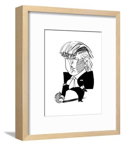 Donald Trump Globe - Cartoon-Tom Bachtell-Framed Art Print