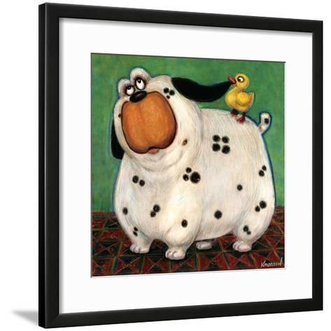 There's a Duck in My Ear-Kourosh-Framed Art Print