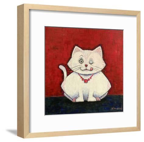 White Cat-Kourosh-Framed Art Print