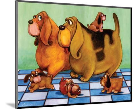Hounddog Family Picnic-Kourosh-Mounted Art Print