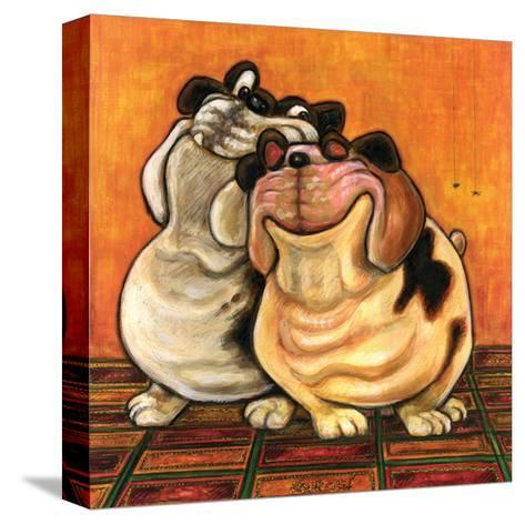 Bulldogs in Love-Kourosh-Stretched Canvas Print