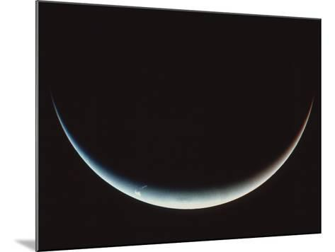 Voyager II Image of a Crescent Neptune--Mounted Photographic Print