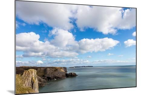 Caldey Island from the Coast Near Tenby, Pembrokeshire, Wales, UK-Derek Phillips-Mounted Photographic Print