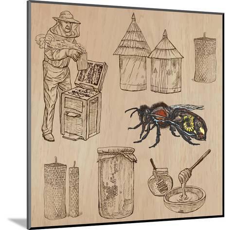 Bees, Beekeeping, and Honey-KUCO-Mounted Art Print