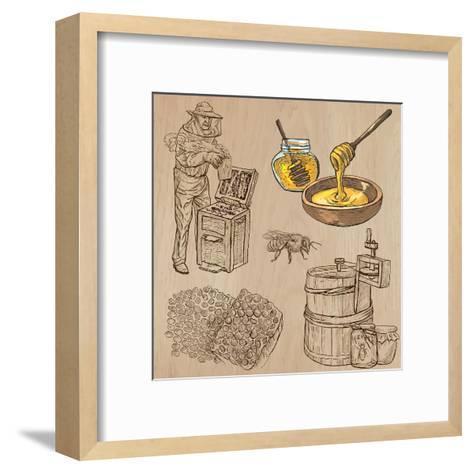 Bees, Beekeeping, and Honey-KUCO-Framed Art Print