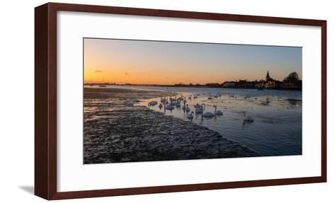 A View of Bosham Harbour in West Sussex-Chris Button-Framed Art Print