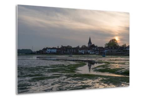 A View of Bosham in West Sussex-Chris Button-Metal Print