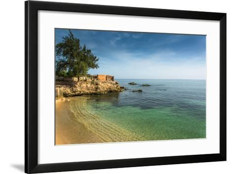Bay in Old Colonial Cuban City of Gibara, with Old Port Buildings-Marcin Jucha-Framed Art Print