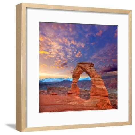 Arches National Park Delicate Arch in Utah Usa-Lunamarina-Framed Art Print