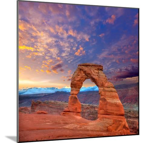 Arches National Park Delicate Arch in Utah Usa-Lunamarina-Mounted Photographic Print