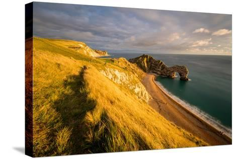 A View of Durdle Door in Dorset-Chris Button-Stretched Canvas Print