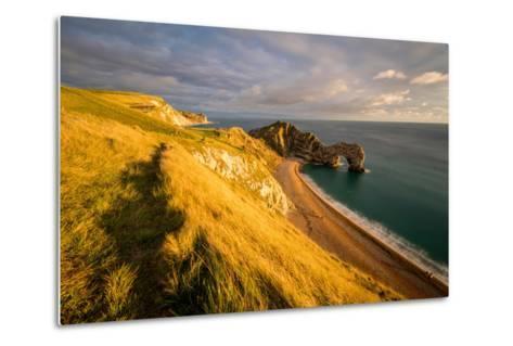 A View of Durdle Door in Dorset-Chris Button-Metal Print