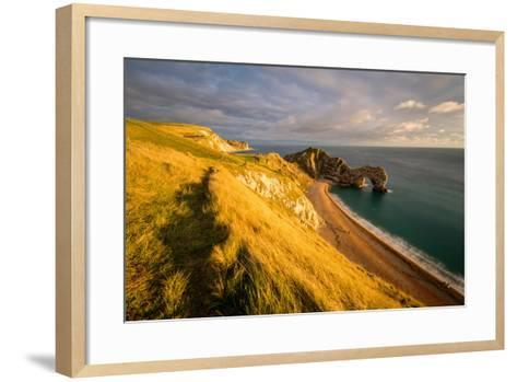 A View of Durdle Door in Dorset-Chris Button-Framed Art Print