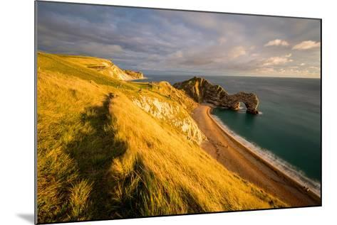 A View of Durdle Door in Dorset-Chris Button-Mounted Photographic Print