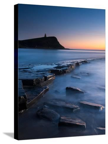 A View of the Ledge at Kimmeridge-Chris Button-Stretched Canvas Print