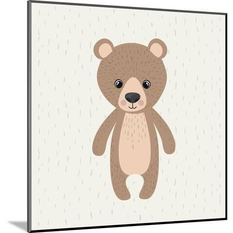 Bear Cute Wildlife Icon-Paulo Gomez-Mounted Art Print