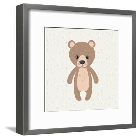Bear Cute Wildlife Icon-Paulo Gomez-Framed Art Print