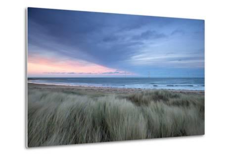 A Wind Farm Off the Coast of Teesside at South Gare, Redcar, Middlesborough, UK- Richard Childs Photography-Metal Print