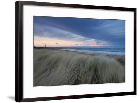 A Wind Farm Off the Coast of Teesside at South Gare, Redcar, Middlesborough, UK- Richard Childs Photography-Framed Art Print