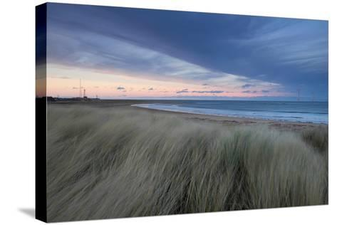 A Wind Farm Off the Coast of Teesside at South Gare, Redcar, Middlesborough, UK- Richard Childs Photography-Stretched Canvas Print