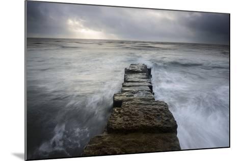A Wall Leading into the Sea at Lyme Regis, Dorset-Stephen Spraggon-Mounted Photographic Print