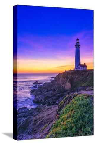 Beautiful Blues and Deep Purples of Sundown and Dusk Falling-Aron Cooperman-Stretched Canvas Print