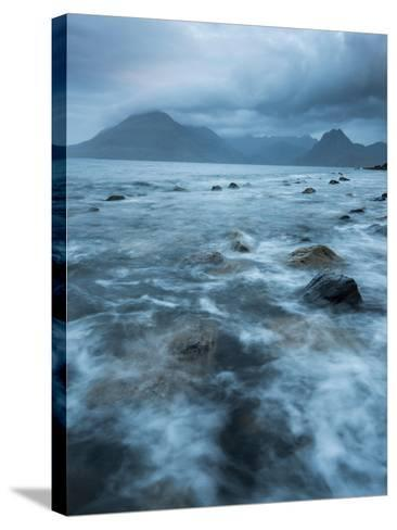 Agitated Water at Elgol, Loch Scavaig, with the Black Cuillin Beyond, Isle of Skye, Scotland-Stewart Smith-Stretched Canvas Print