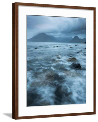 Agitated Water at Elgol, Loch Scavaig, with the Black Cuillin Beyond, Isle of Skye, Scotland-Stewart Smith-Framed Art Print