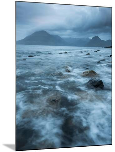 Agitated Water at Elgol, Loch Scavaig, with the Black Cuillin Beyond, Isle of Skye, Scotland-Stewart Smith-Mounted Photographic Print