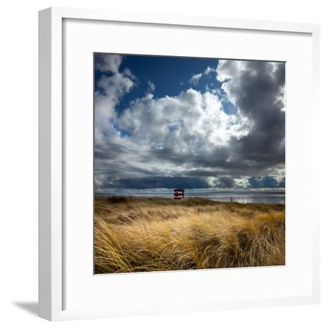 Alt Estuary on the Sefton Coast-Dave Mcaleavy Images-Framed Art Print