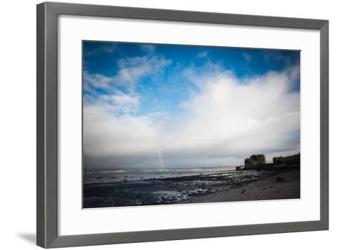 Blackness Castle with Blue Sky and Small Rainbow- Bridge Community Project-Framed Art Print