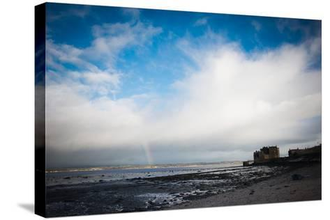 Blackness Castle with Blue Sky and Small Rainbow- Bridge Community Project-Stretched Canvas Print