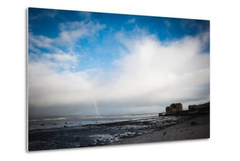 Blackness Castle with Blue Sky and Small Rainbow- Bridge Community Project-Metal Print