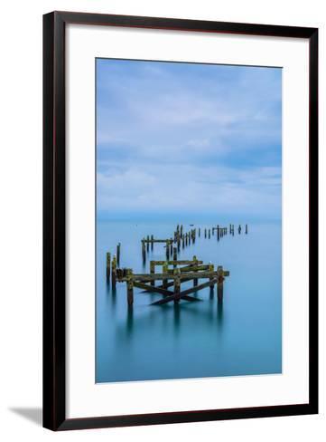 Blue Swanage Pier-Robert Maynard-Framed Art Print