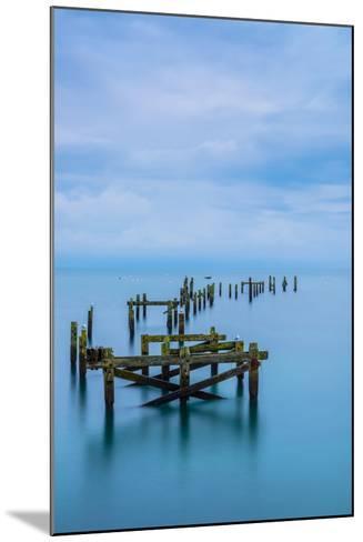Blue Swanage Pier-Robert Maynard-Mounted Photographic Print