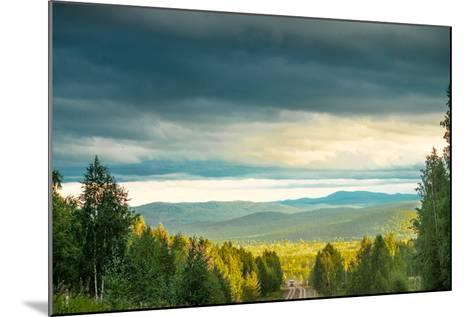 Blue Sky, Clouds and Field-Oleg Yermolov-Mounted Photographic Print