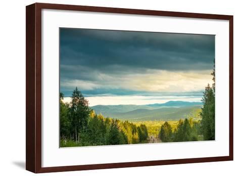 Blue Sky, Clouds and Field-Oleg Yermolov-Framed Art Print