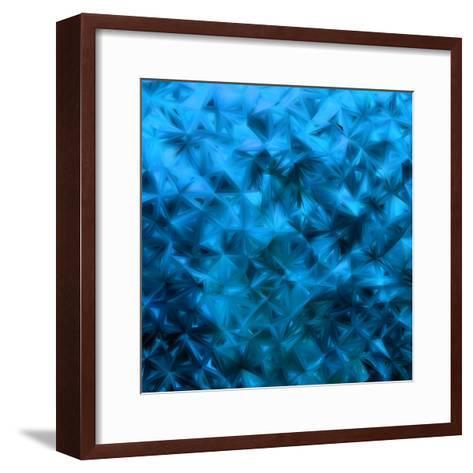Blue Glitter-Petrov Vladimir-Framed Art Print