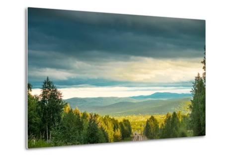 Blue Sky, Clouds and Field-Oleg Yermolov-Metal Print