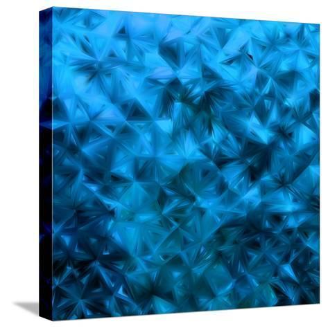 Blue Glitter-Petrov Vladimir-Stretched Canvas Print