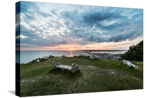 Chesil Beach and the Jurassic Coast Dorset-Oliver Taylor-Stretched Canvas Print