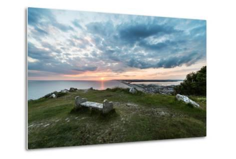 Chesil Beach and the Jurassic Coast Dorset-Oliver Taylor-Metal Print