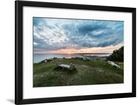Chesil Beach and the Jurassic Coast Dorset-Oliver Taylor-Framed Art Print