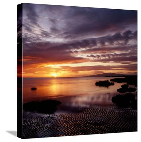 A Scenic Atmospheric Landscape Sunset- South West Images Scotland-Stretched Canvas Print
