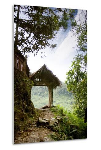 A Tranquil Garden Path in the Mountains-Tyler Olson-Metal Print