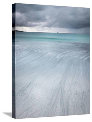 Approaching Storm over West Beach, Berneray, Outer Hebrides, Scotland-Stewart Smith-Stretched Canvas Print